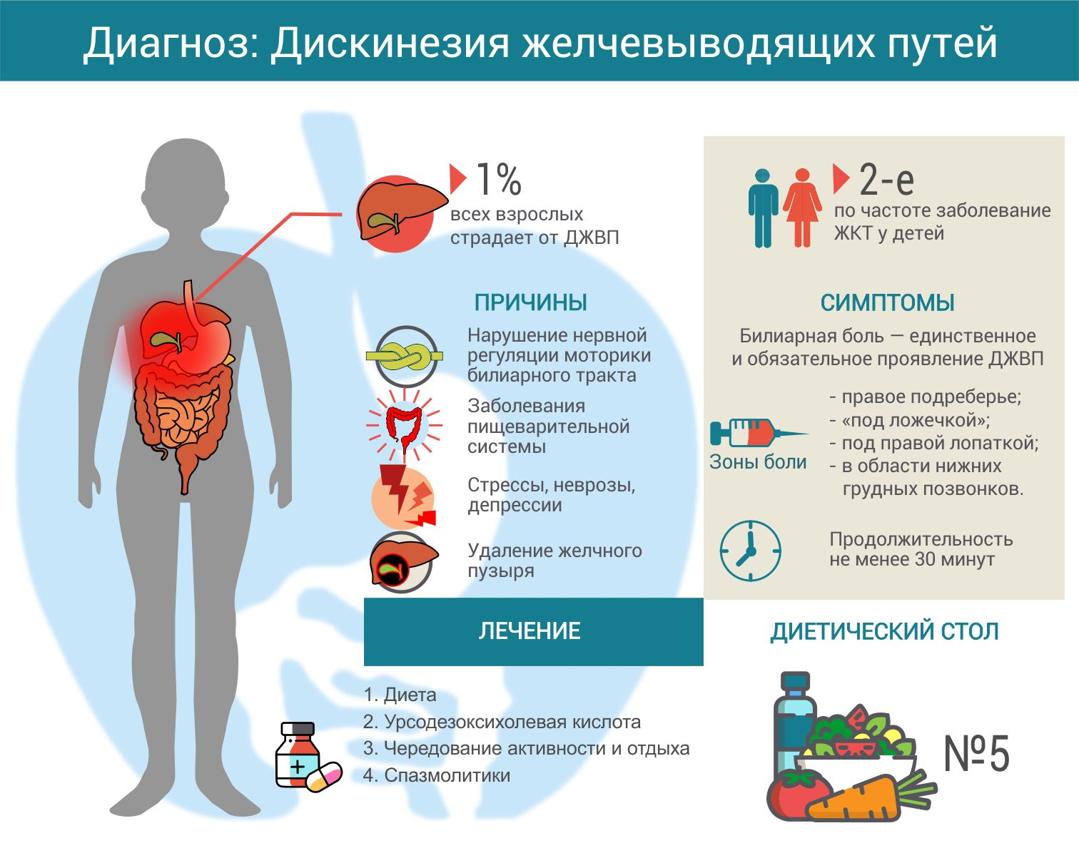 Диета и питание при дискинезии желчевыводящих путей у детей. рецепты. меню.таблица