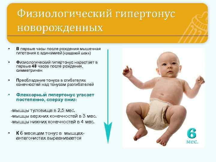 Гипертонус у новорожденного ребенка: чем опасен гипертонус мышц ног и рук, симптомы, лечение, массаж