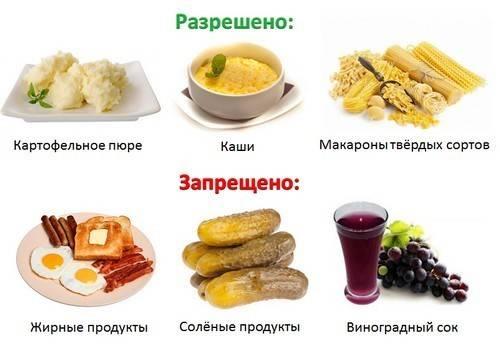 Фрукты при гастрите желудка и овощи, какие можно (полезны) и нельзя?