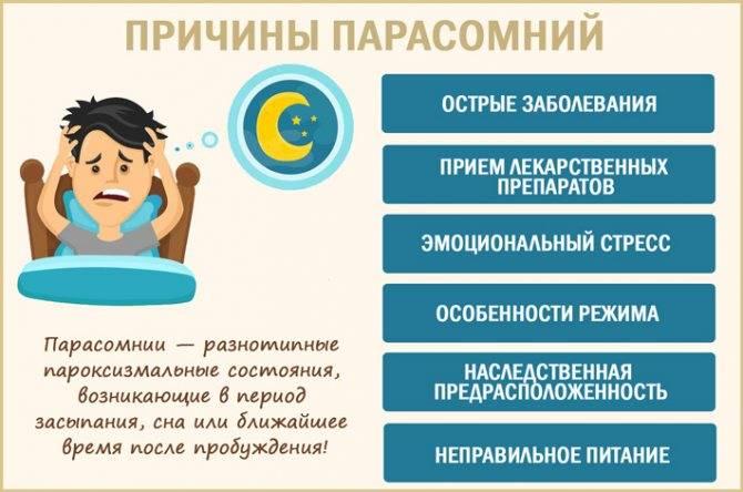 Парасомния у детей и взрослых - причины, диагностика, лечение, проликтика
