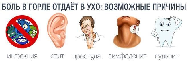 Болит ухо и горло с одной стороны: чем лечить? причины. что делать?