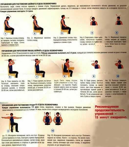 Упражнения и массаж при шейном остеохондрозе