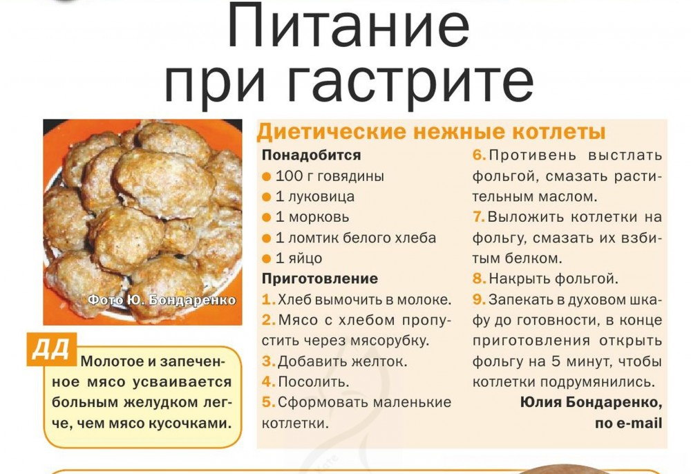 Рецепты при гастрите иязве желудка