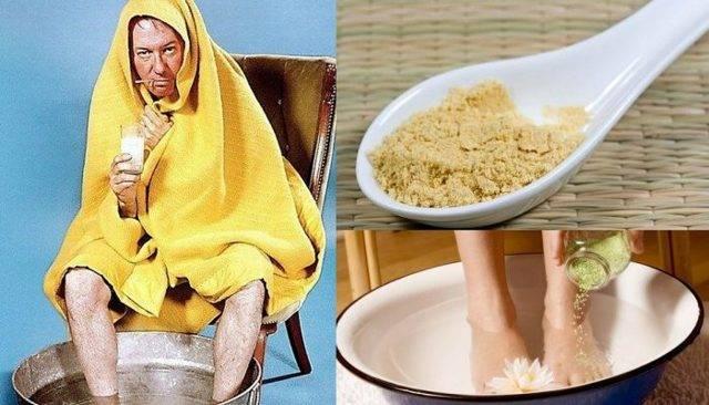 Горчица от простуды, кашля, насморка: способы применения, показания и противопоказания