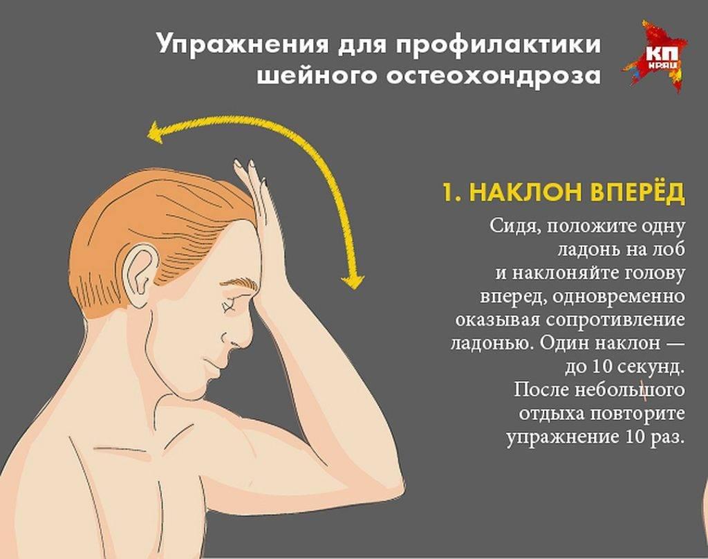 Лфк при остеохондрозе шейного отдела позвоночника: рекомендации к упражнениям, противопоказания к выполнению