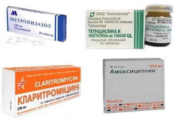 Какие антибиотики при гастрите: трихопол при гатстрите