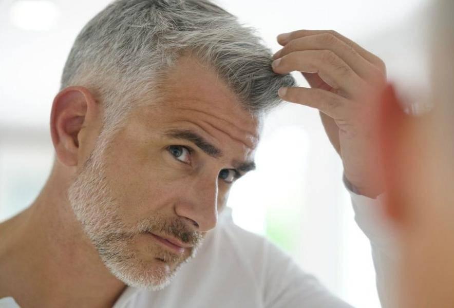 Почему седеют волосы у мужчин: причины, возраст. можно ли остановить поседение