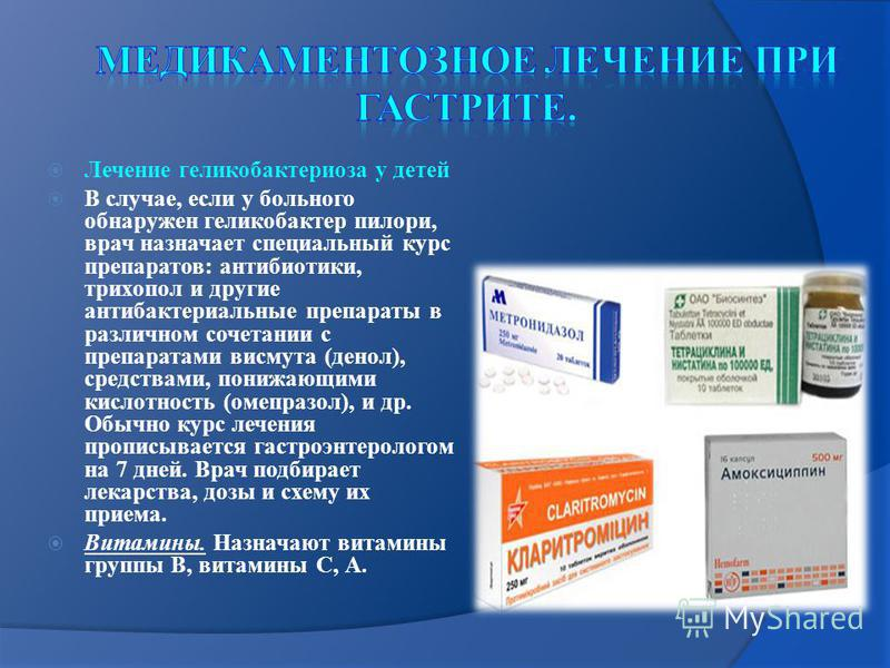 Антибиотики при гастрите: как принимать, показания, список