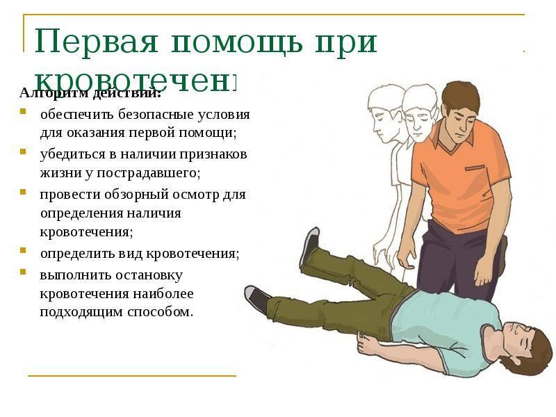 Особенности оказания пострадавшим первой помощи при кровотечениях