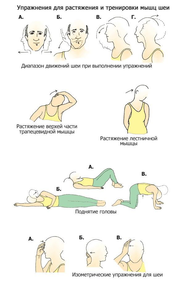 Упражнения при шейном остеохондрозе: правила выполнения лечебной гимнастики для укрепления мышц позвоночника