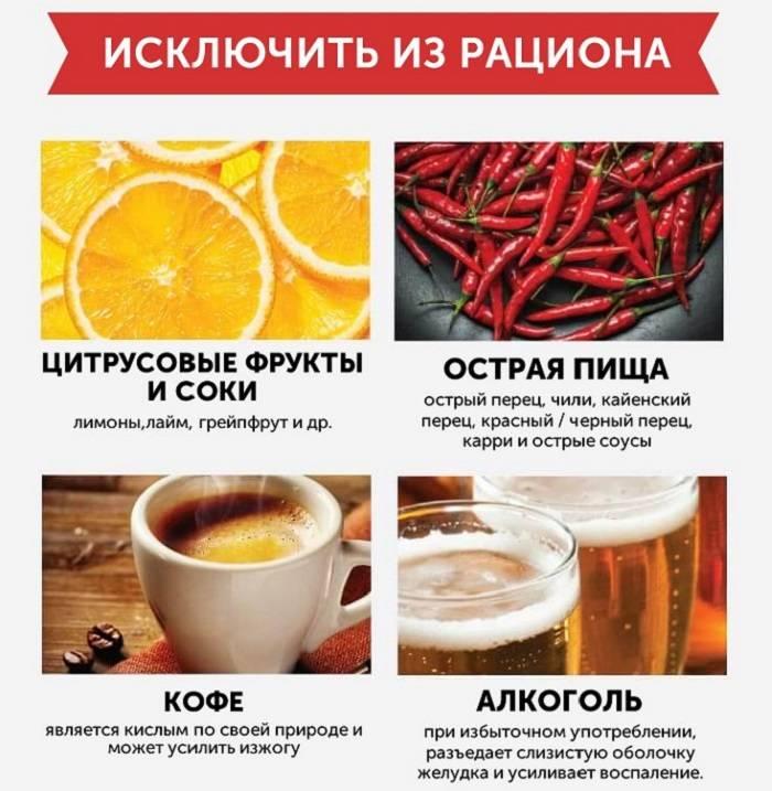 Какие фрукты и овощи можно есть при гастрите желудка - с повышенной кислотностью