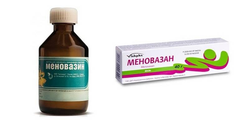 Меновазин: инструкция к препарату для местного применения