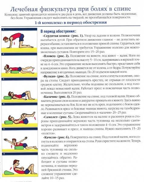 Гимнастика для позвоночника: 10 упражнений для спины